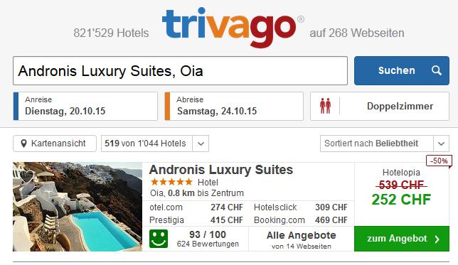 Luxushotel auf Santorin