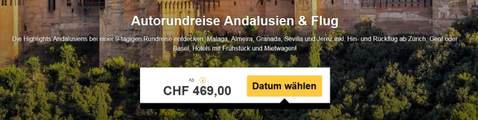 rundreise andalusien