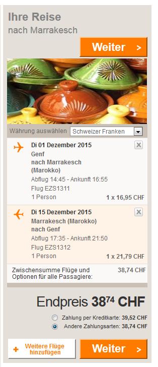 Marrakesch_Flug