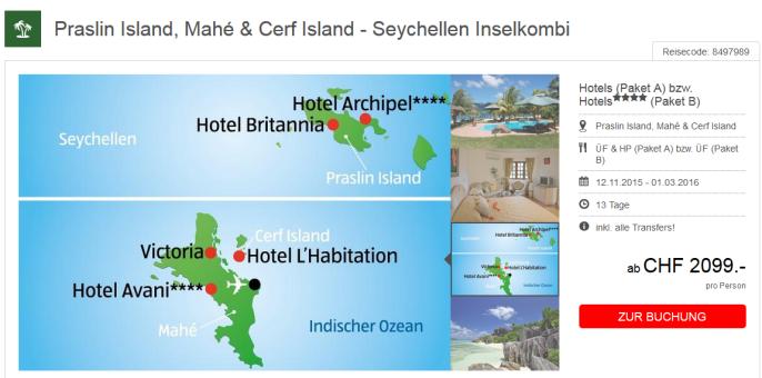 Seychellen Inselkombi