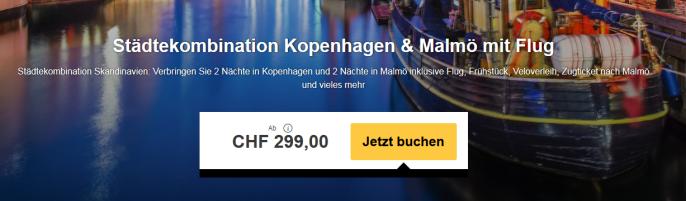 Städtekombi Kopenhagen und Malmö