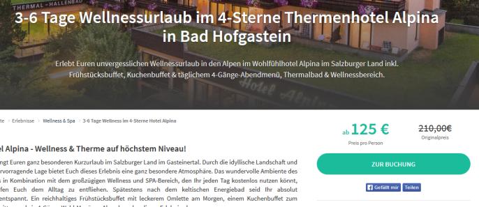Wellnessferien in Bad Hofgastein