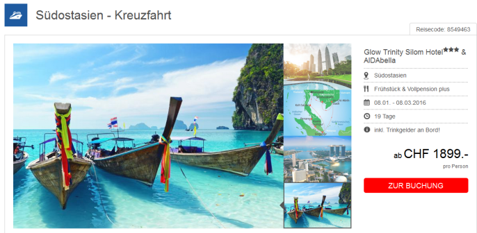 Südostasien Kreuzfahrt