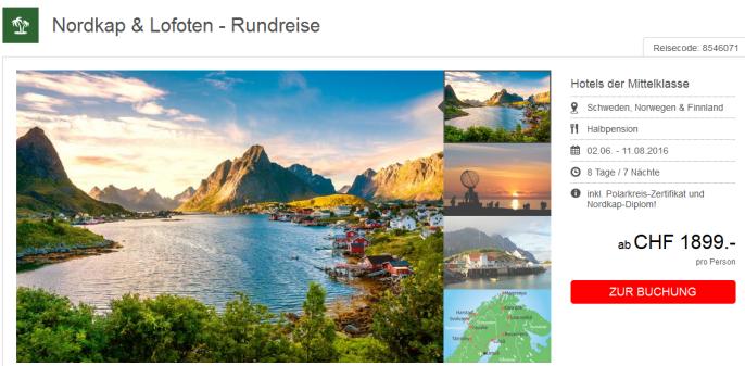 Skandinavien Rundreise