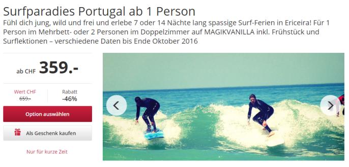 Surfferien in Portugal