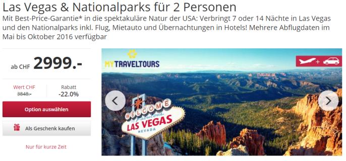 Las Vegas, Nationalparks, Canyons