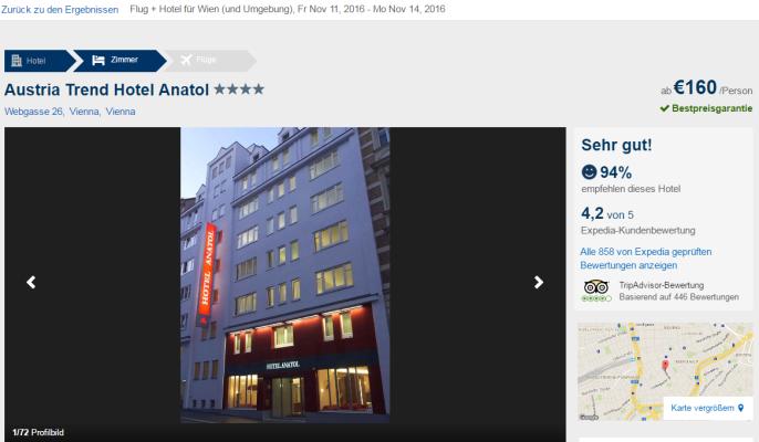 Städtereise nach Wien Screenshot