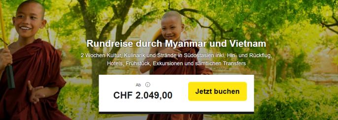 Rundreise durch Myanmar und Vietnam