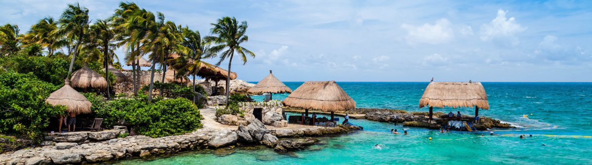The beautiful oceanfront paradise of the Mayan Riviera