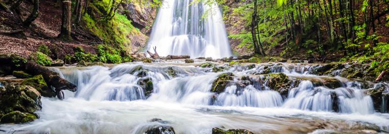 Josefsthaler Wasserfälle near Lake Schliersee, Bavaria, Germany shutterstock_248439718-2