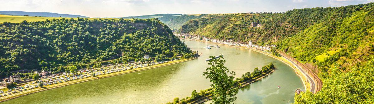 Mittelrheintal, Blick von der Loreley