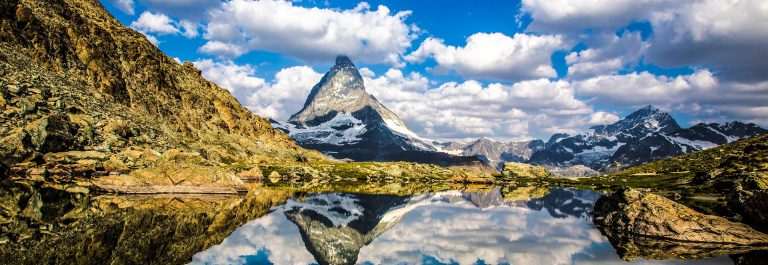Swiss beauty, Riffelsee lake with Matterhorn mount reflexion shutterstock_299052143-2_1920
