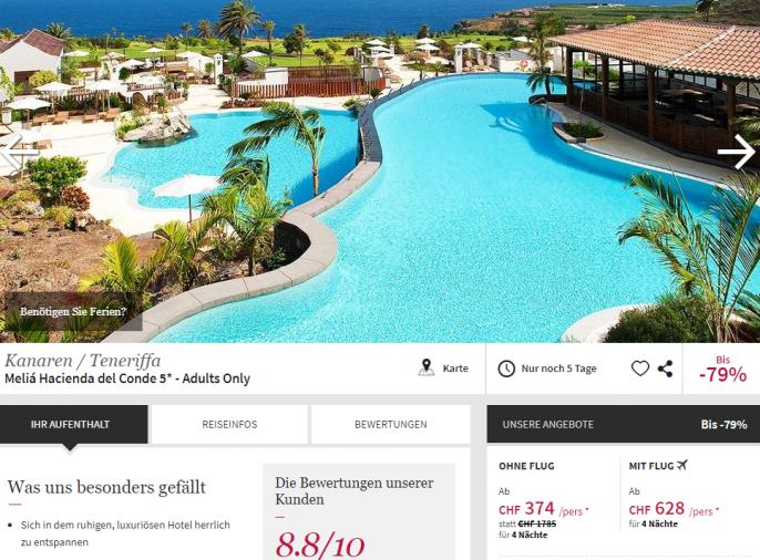 Luxusferien auf Teneriffa im melia hotel