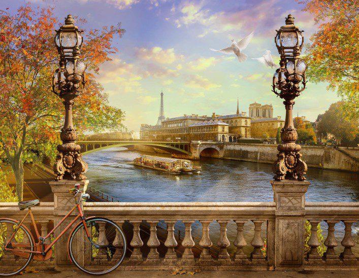 the Seine, Notre Dame de Paris.