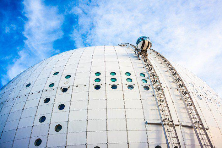 Gondola in Stockholm Globe arena