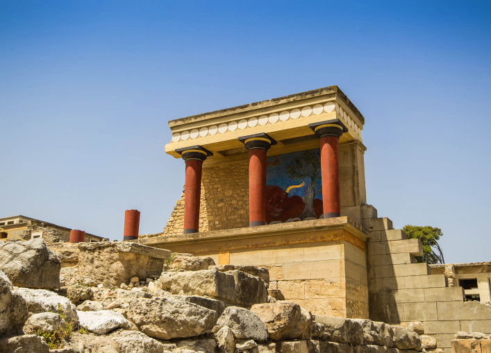 Antique palace in Knossos, Crete in Greece