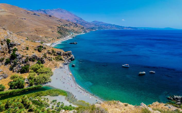 Preveli Beach in Crete
