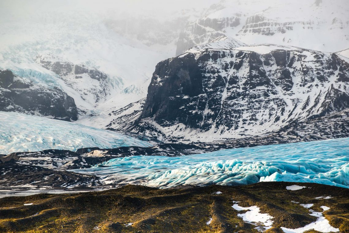 Glacier tongue, Vatnajokull glacier region, South Iceland