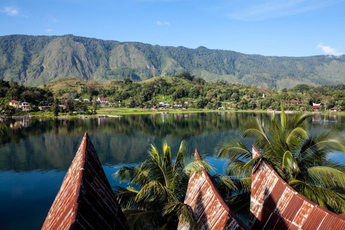 Der Tobasee auf der Insel Sumatra in Indonesien