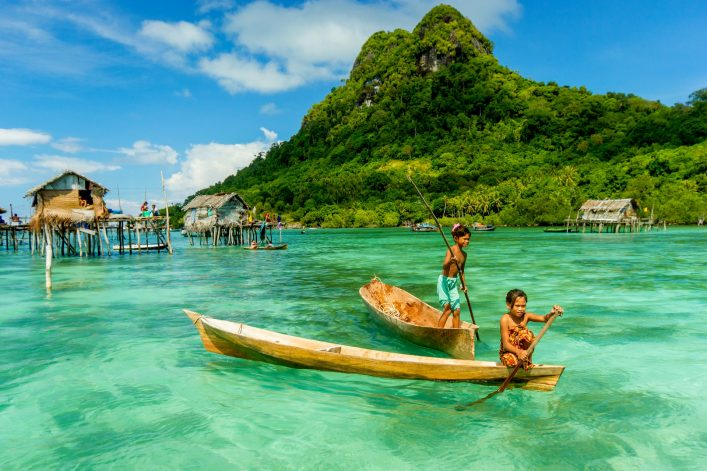 Seenomaden auf der Insel Borneo