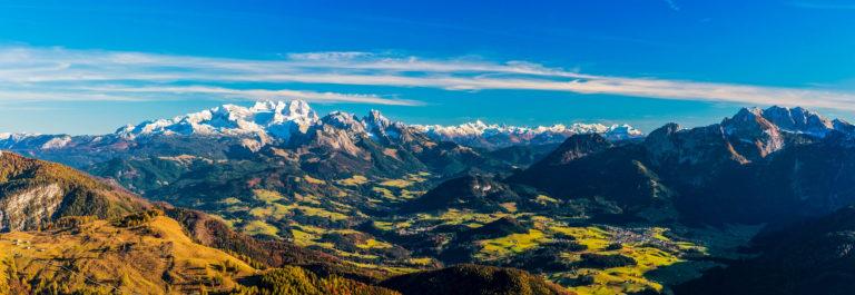 Dachstein Panorama in autumn
