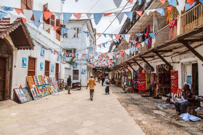 Die historische Altstadt Sansibars wurde durch arabische und indische Einflüsse geprägt