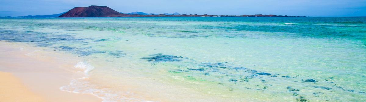white sand beach on Fuerteventura