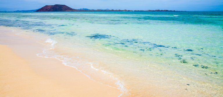 white sand beach on Fuerteventura