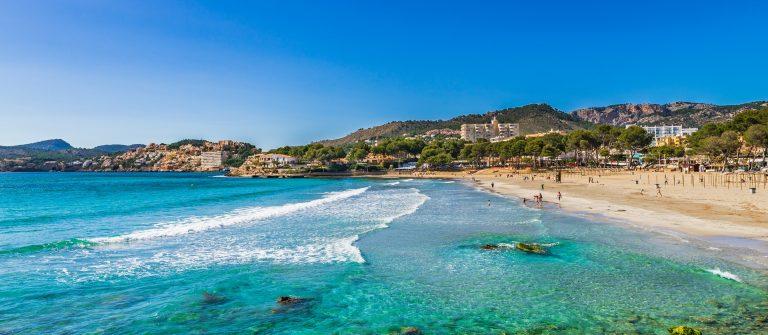 Spain Majorca beach coast Platja de Tora Paguera shutterstock_583617907
