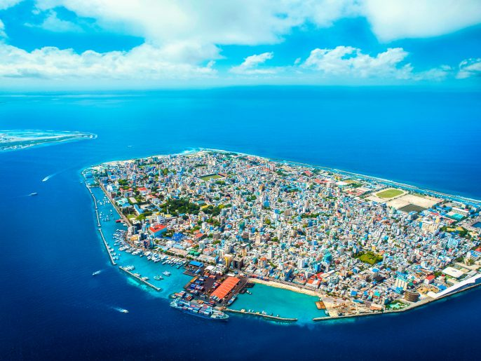 Aerial view of Male, Maldives capital