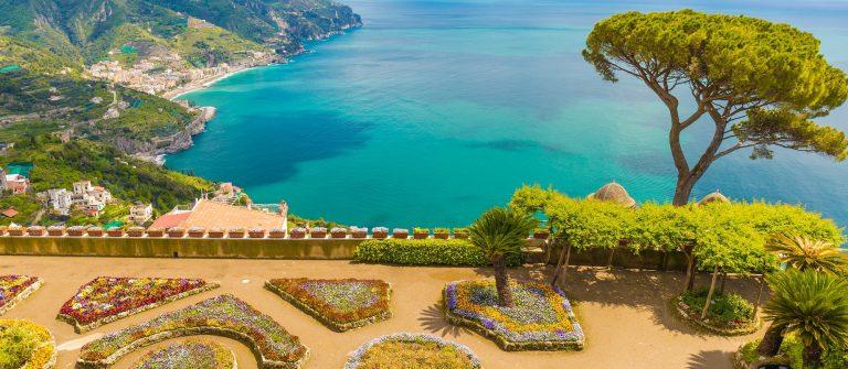 Villa Rufolo Ravello town Amalfi coast Campania region Italy_shutterstock_421438408_2000