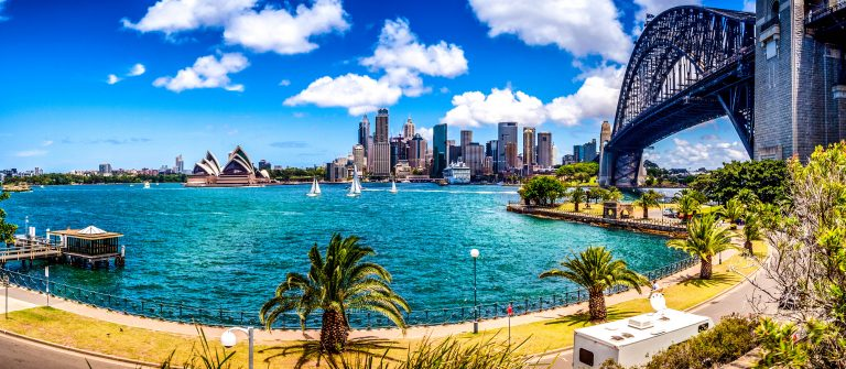 View of Sydney skyline