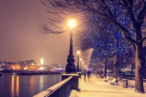 Weihnachtsshopping in London Winter