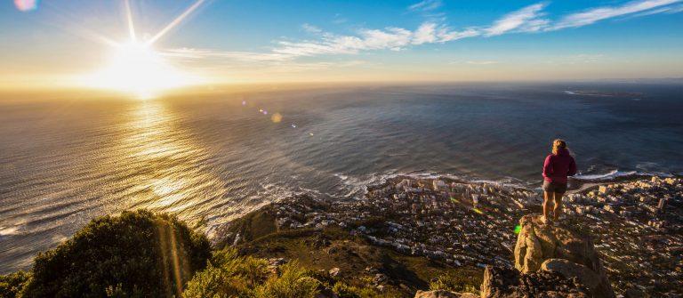 Ferien in Kapstadt Sonnenuntergang