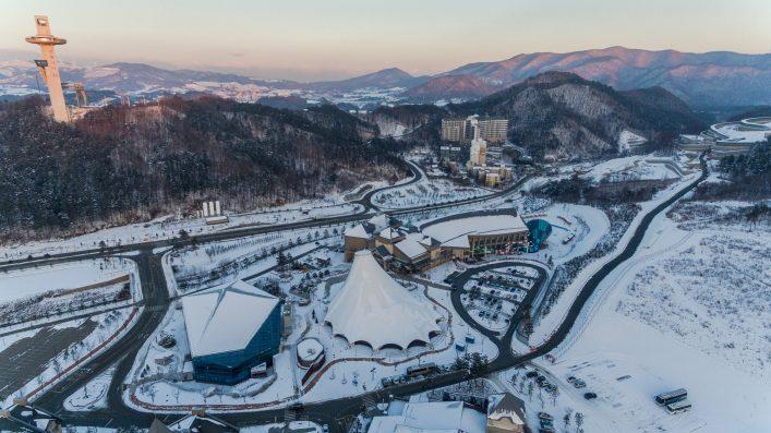 EDITORIAL ONLY Alexander Khitrov Shutterstock.com PYEONGCHANG, SOUTH KOREA Winter view of ski resort in Pyeongchang, South Korea. PYEONGCHANG, SOUTH KOREA2016 shutterstock_777487921