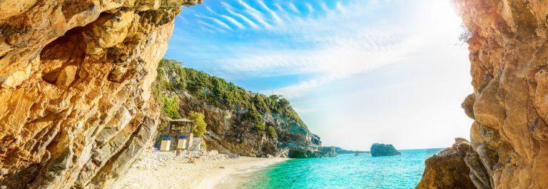 Beach Corfu, Greece,shutterstock_629039348