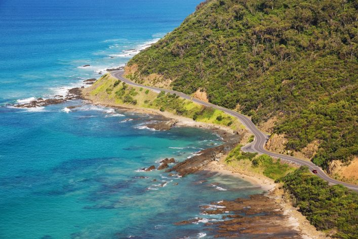 Marathonstrecken: An der Great Ocean Road entlang.