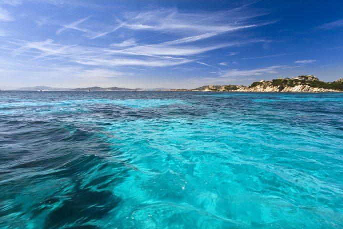 A scenic beach view of La Maddalena, Sardegna
