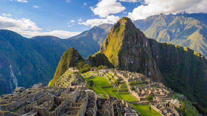 Machu Picchu in den Anden in Peru.