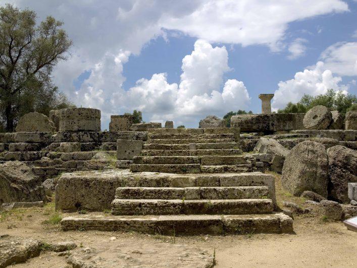 Der Zeus Tempel in Olympia.
