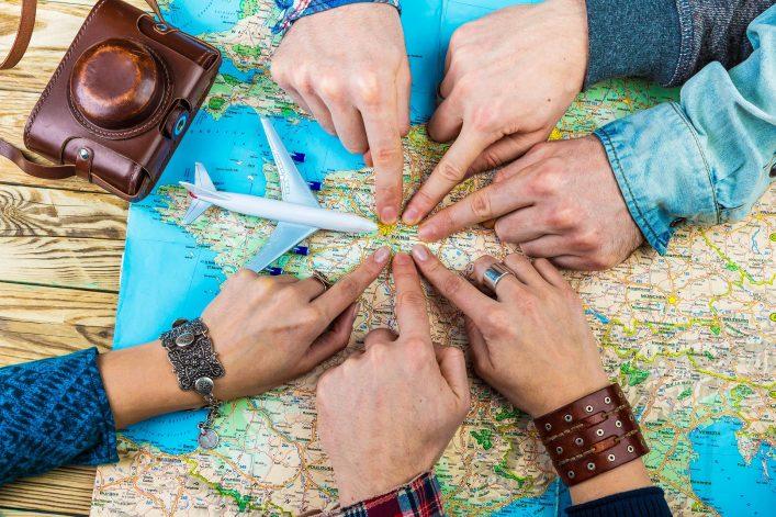 Eine Weltkarte - Reisen müssen geplant werden.