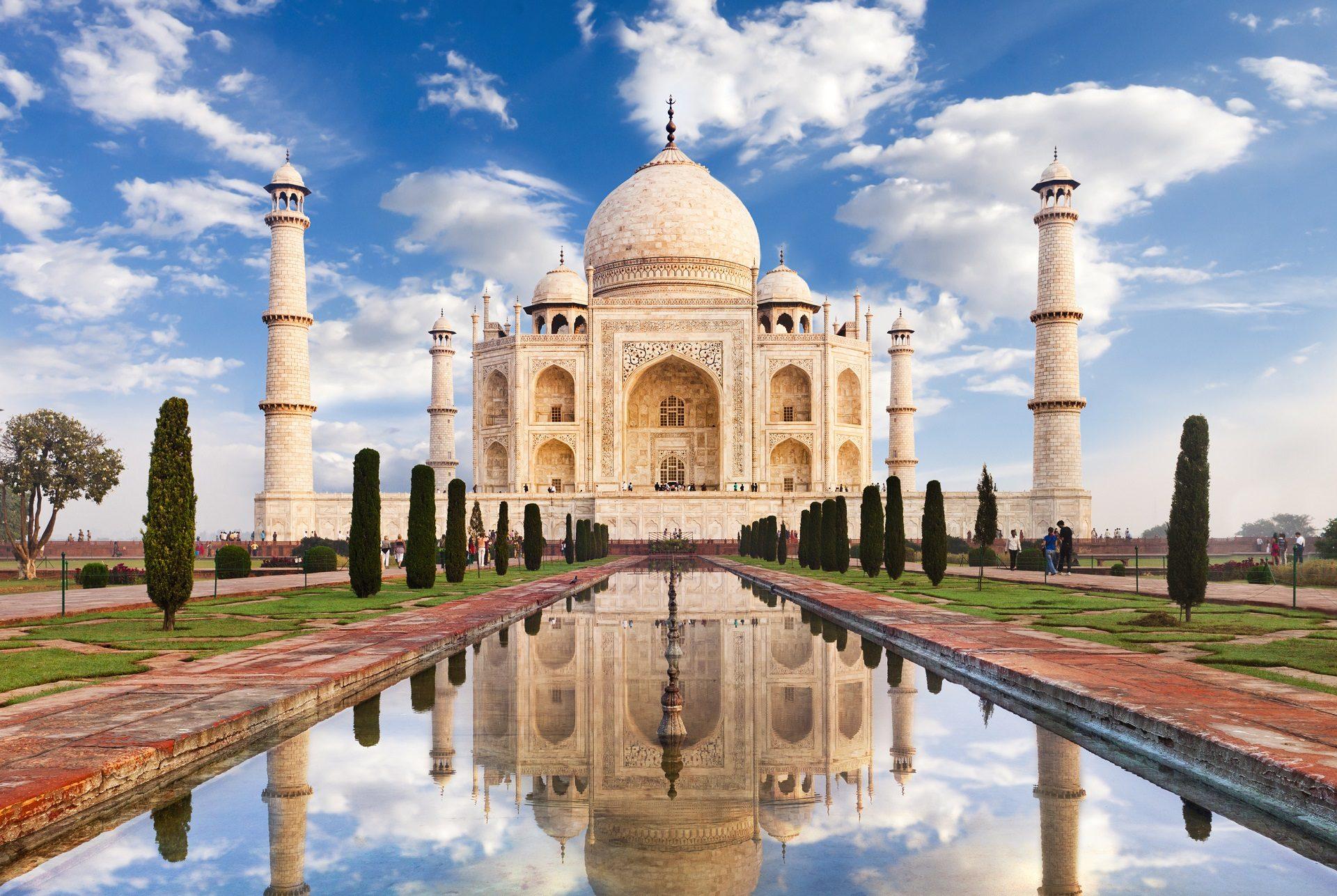 Taj Mahal in Indien.