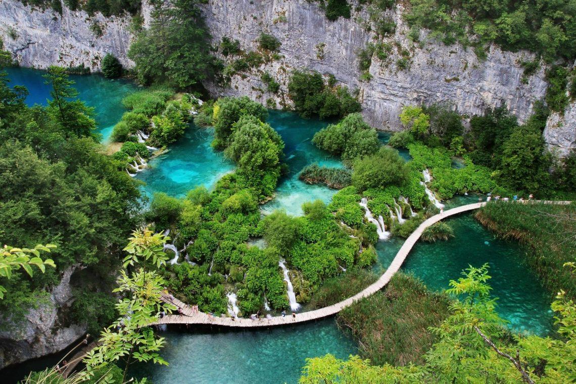 Luftansicht der Plitvicer Seen