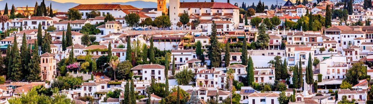 Alhambra Granada Cityscape Churches Andalusia Spain