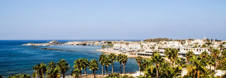 Cyprus Paphos town and harbour