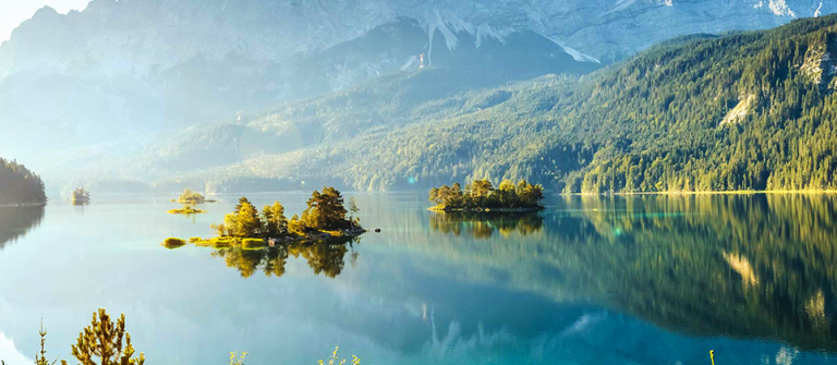 See in der Sonne