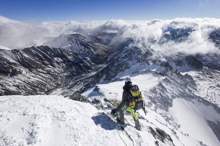 Mountain Climber at Grossglockner, Austrian Alps