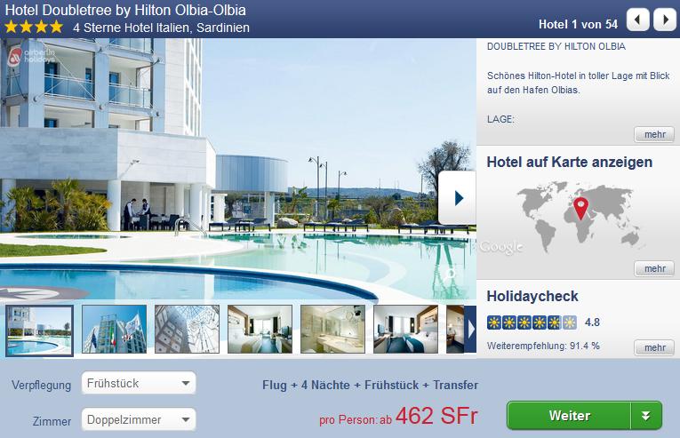 last minute sardinien 5 tage 4 sterne hotel 462 chf. Black Bedroom Furniture Sets. Home Design Ideas