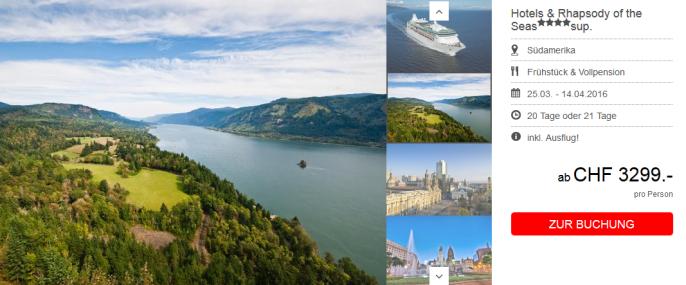 Südamerika Kreuzfahrt Screenshot