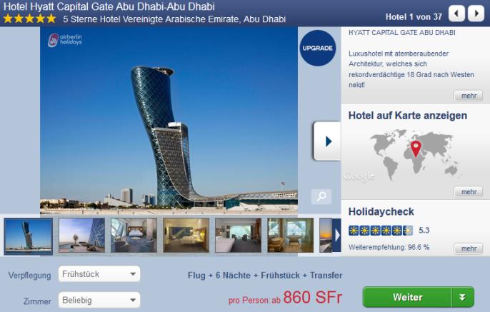 Abu Dhabi im Hyatt Capital Gate
